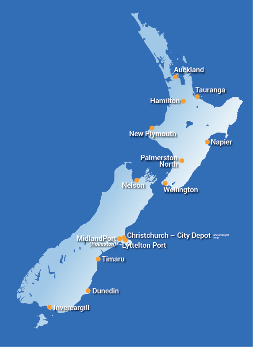 Our Location Lyttelton Port Of Christchurch - New zealand latitude