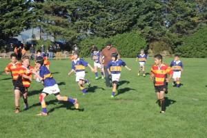 Lyttelton Rugby - The Under 10 Lyttelton Dolphins team against Suburbs; Lyttelton Rugby Club wins 50-40