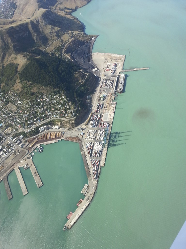 Lyttelton Port from the air - April 2015