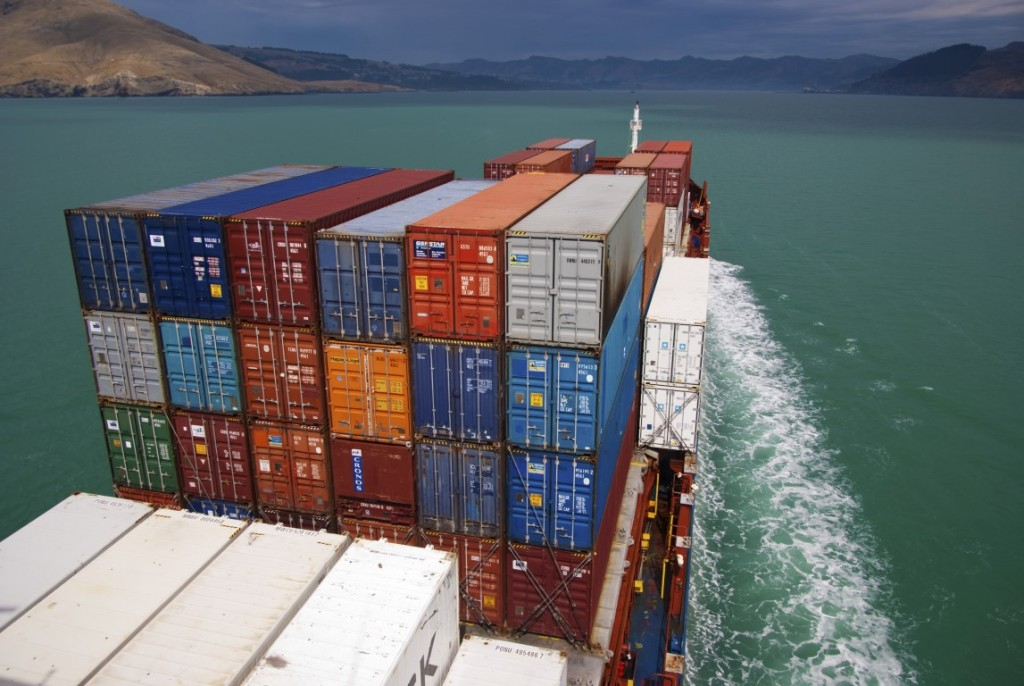 View-from-container-ship-inwards-in-channel,-Lyttelton