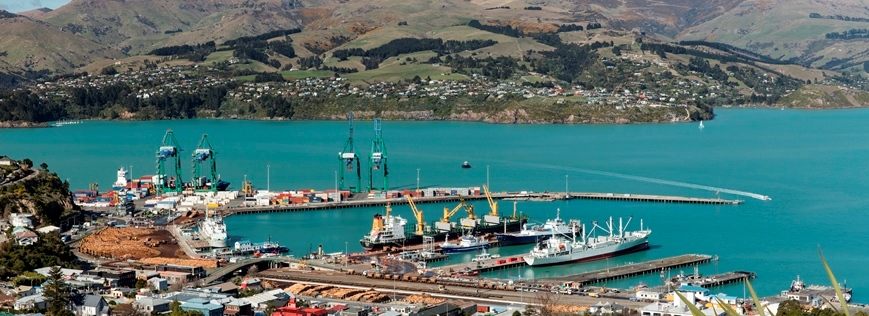 Lyttelton Port wide shot